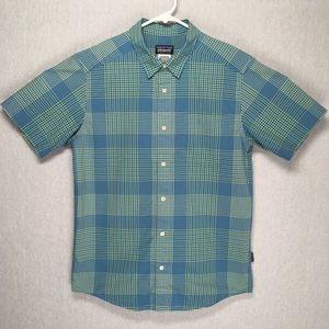 Patagonia mens button down short sleeve shirt